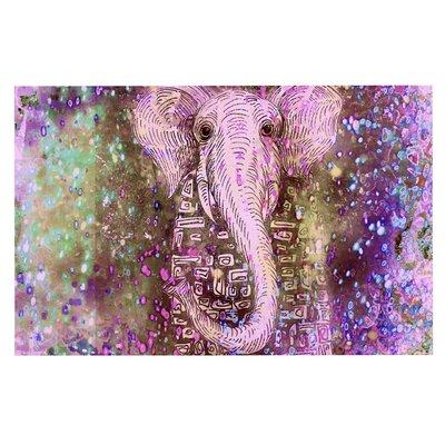 Pink Dust Magic Elephant Sparkle Decorative Doormat