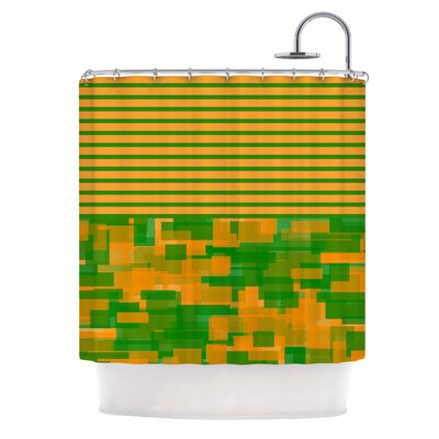 Listati V2 Vector Shower Curtain