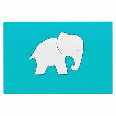 Cute Blue/White Elephant Doormat