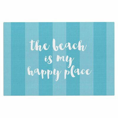 Beach is My Happy Place Doormat Color: Blue/Aqua
