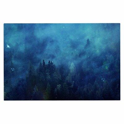 Blue Night Forest Doormat