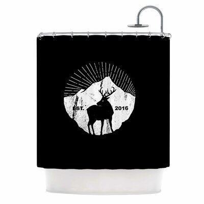 American Mountain Deer Digital Shower Curtain