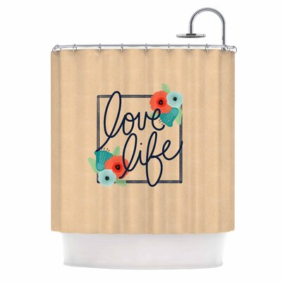 Love Life Digital Shower Curtain