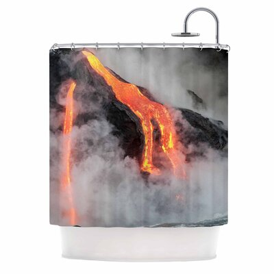 Hawaiian Lava Shower Curtain