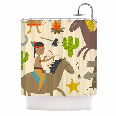 Tipi Kids Shower Curtain