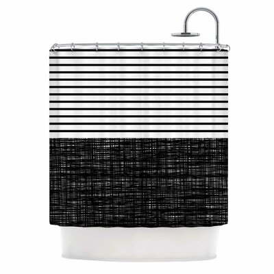 Platno (With Black Stripes) Shower Curtain