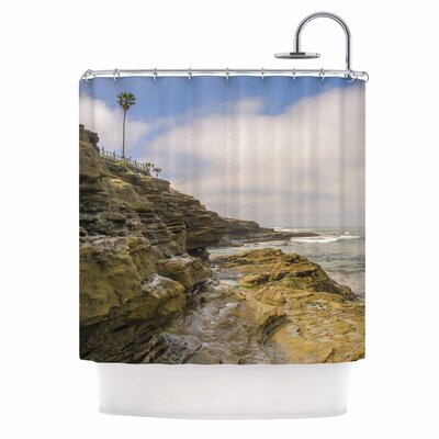 Rocks Over the Water Shower Curtain