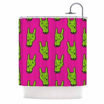 Zombie Rock Shower Curtain
