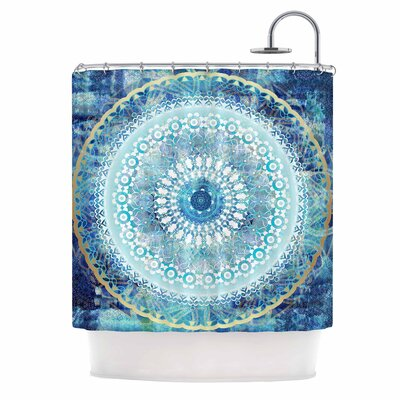 Ornate Boho Mandala Mixed Media Shower Curtain