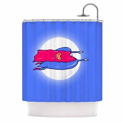 'Superlove' Shower Curtain