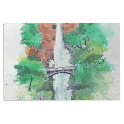 Multnomah Falls Watercolor Doormat