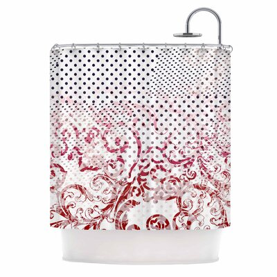 Mixing Dots Digital Shower Curtain