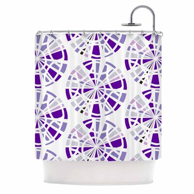 Precious Illustration Shower Curtain Color: Purple