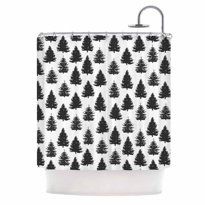 Pine Forest Nature Shower Curtain