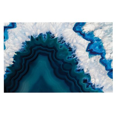 Blue Geode Nature Photography Decorative Doormat
