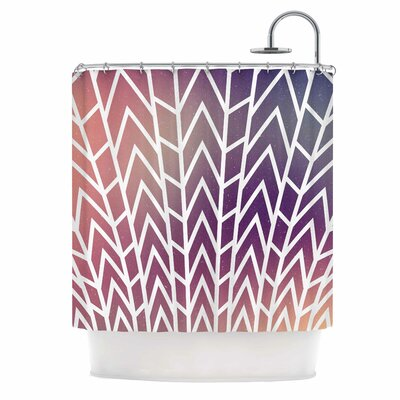 Shattering Shower Curtain Color: Sunset Purple