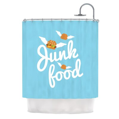 Junk Food Burger Shower Curtain
