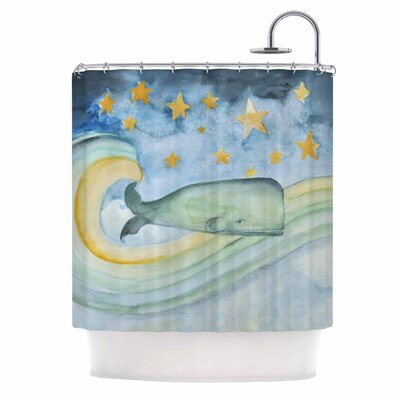 Swimming with the Stars Illustration Shower Curtain