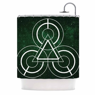 Emerald City Digital Shower Curtain