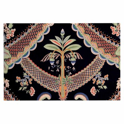 Vintage Paisley Pattern Art Deco Decorative Doormat