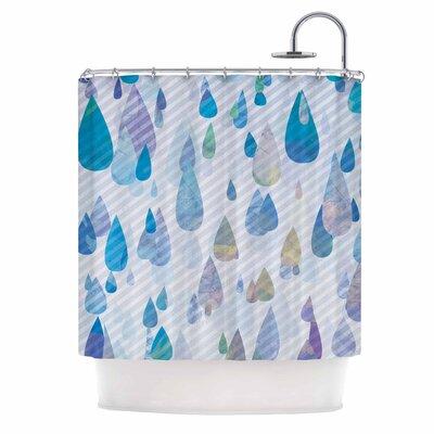 Rain Storm Digital Shower Curtain