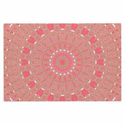Boho Hearts Coral Doormat