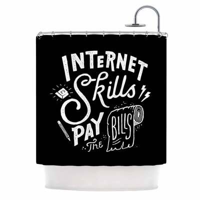 Pay the Bills Typography Shower Curtain