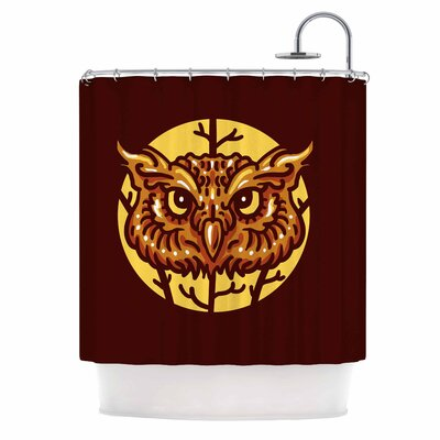 Head Owl Digital Shower Curtain