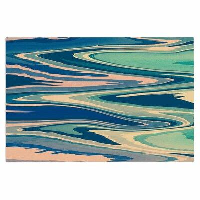 Pastel Beach Waves Doormat