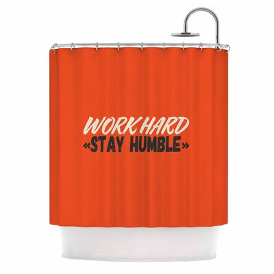 Work Hard Stay Humble Digital Vintage Shower Curtain