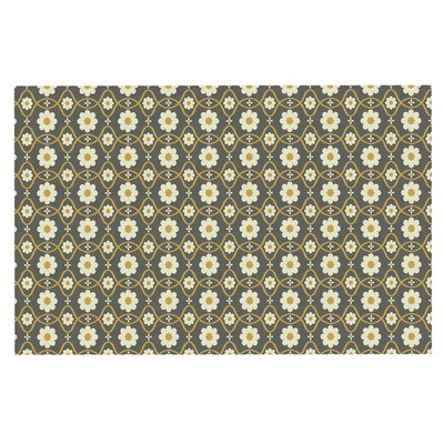 Floral Doormat Color: Gray/Brown