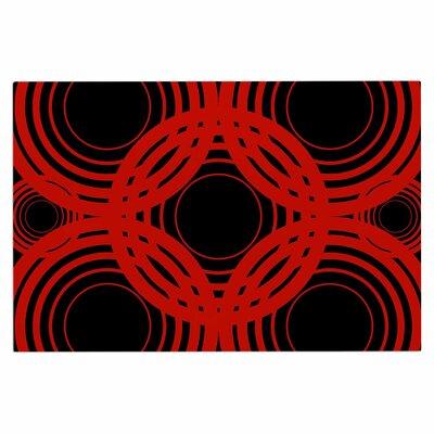 Geo Red Crimson Decorative Doormat