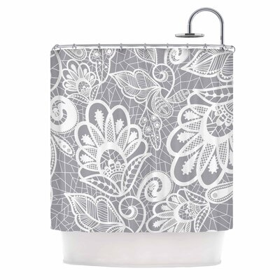 Lace Flower Shower Curtain