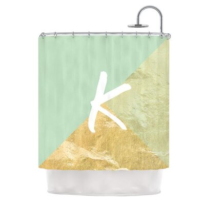 Monogram Foil Shower Curtain Color: Mint