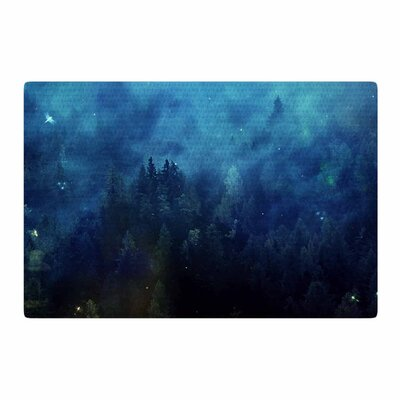 888 Design Night Forest Blue/Black Area Rug Rug Size: 2 x 3