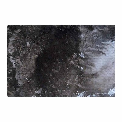 Abstract Anarchy Design Crepuscular Nebula Gray/Black Area Rug Rug Size: 2 x 3