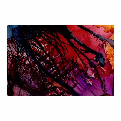Abstract Anarchy Design Daisy Purple/Yellow Area Rug Rug Size: 2 x 3