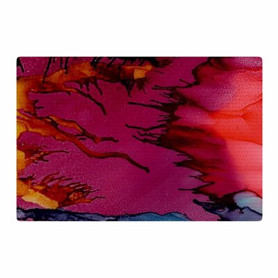 Abstract Anarchy Design Marianas Trench Tags Purple/Red Area Rug Rug Size: 4 x 6
