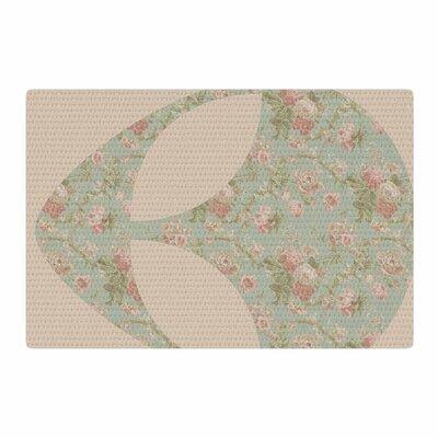 Alias Floral Alien Pink/Teal Area Rug Rug Size: 4 x 6