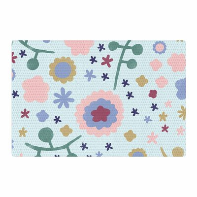 Alik Arzoumanian Morning Flowers Pink/Blue Area Rug Rug Size: 4 x 6
