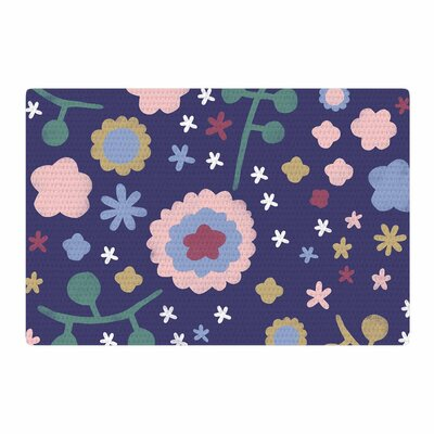 Alik Arzoumanian Night Floral Blue/Nature Area Rug Rug Size: 2 x 3