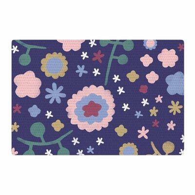 Alik Arzoumanian Night Floral Blue/Nature Area Rug Rug Size: 4 x 6