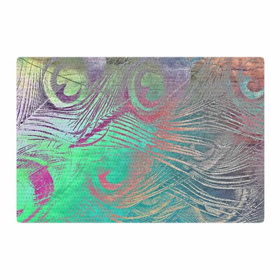Alison Coxon Indian Summer Abstract Purple/Teal Area Rug Rug Size: 2 x 3