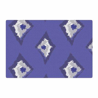 Alison Coxon Denim Ikat Blue/Gray Area Rug Rug Size: 2 x 3
