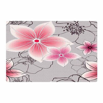 Alison Coxon Floral Gray/Pink Area Rug Rug Size: 2 x 3