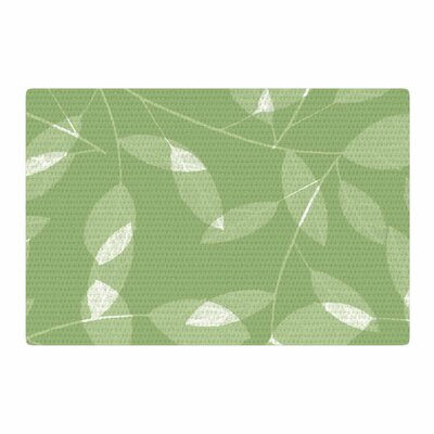 Alison Coxon Leaf Olive Green Area Rug Rug Size: 2 x 3