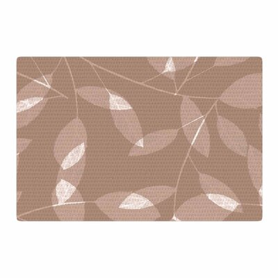 Alison Coxon Leaf Tawny Brown/Beige Area Rug Rug Size: 2 x 3