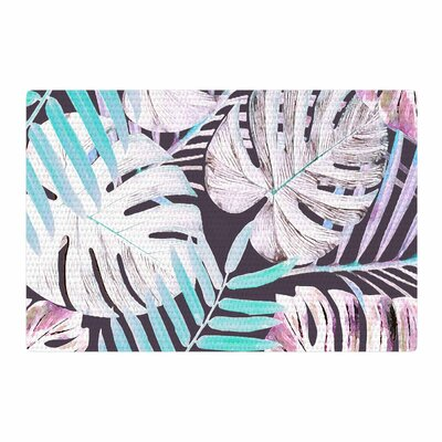 Alison Coxon Midnight Jungle Pink/Blue Area Rug Rug Size: 4 x 6