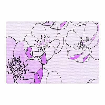 Alison Coxon Painted Wild Roses Purple Floral Pink Area Rug Rug Size: 2 x 3