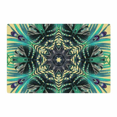 Alison Coxon Paradise Yellow/Black/Teal Area Rug Rug Size: 2 x 3